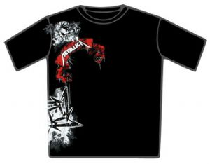 Metallica Angry Drip Black T-Shirt